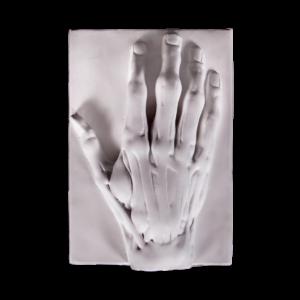 gipsovaya figura ruka ekorshe na podstavke t